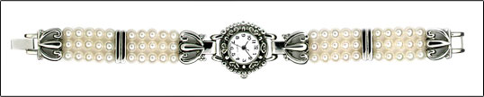 Freshwater Antique Peal Watch w/Round Face