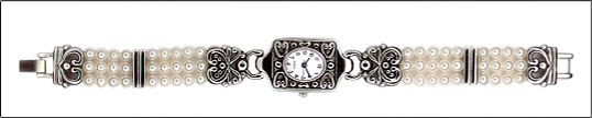 Antique Rectangle Face Pearl Watch